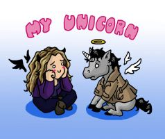 Megstiel - My Unicorn by blackbirdrose
