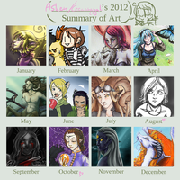 2012 Summary of Art by Cecaangyal