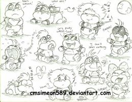 Baby Koopaling Doodles by cmsimeon589