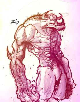 sketch bomb monster by ZipDraw