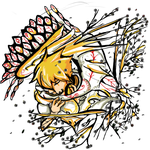Spirit tattoo flower peacock by Shizuri-chan