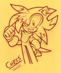 CHRIS LINEART by MaliaGalaxy
