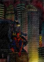 Batman and Spiderman by terry312237