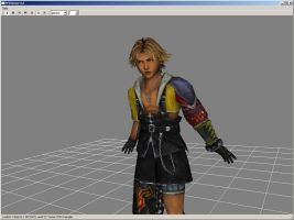Tidus model FFX Game Disk by Renmiri