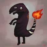 Realistic Shitty Charmander by killerkun