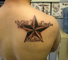 Nautical Star with name by PainlessJames
