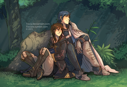 Commission, Chrom and Avatar by Ticcy