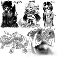 Chibi Set- Lakota Legends by Owlivia
