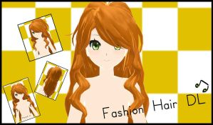 MMD-Fashion Hair DL by xNiiiinooo