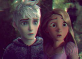 Jack Frost and Rapunzel by HannahLunaBarker