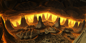 Underground ancient towers by KPEKEP