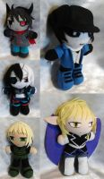 Commission, Mini Plushies from Otherworlde for Nov by ThePlushieLady