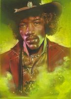 Jimi Hendrix by JeffLafferty
