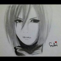 Semi Realistic Drawing of Mikasa Ackerman by SudiLin