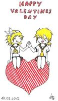 Valentine's Day - Rin and Len by LuuPetitek