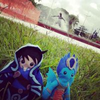 JACE AND KIORA BY THE SURFER'S SQUARE IN SANTOS by sethzerr