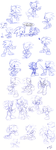 sonic and other poses by Faezza