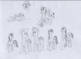 Fallout Equestria Lineup by PommelSketches