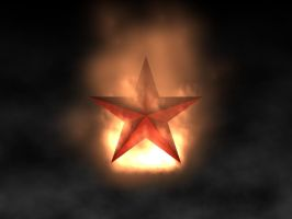Soviet Star in Flames by Narodny-Geroy