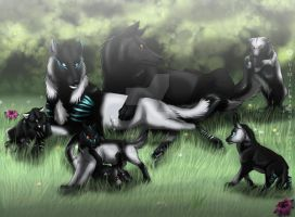 wolf family by YuiMisuki