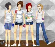 CM: 4 Gym Girls by Apollyon2011