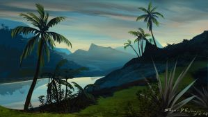 morning and palms by Shane-D-Solomon