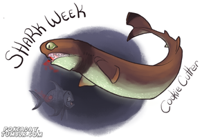 Cookie Cutter Shark by Pokeaday
