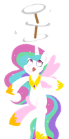 Celestia at the Circus by FrogAndCog