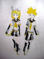 -Kagamine twins- by colorfulldrawer