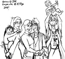 Snape Family Photo Timewarp by brewing-trouble