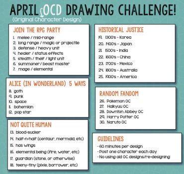 April OCD Challenge by betsyillustration