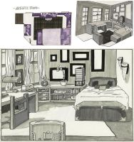 Adelei's Room by xh3llox