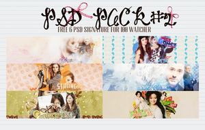 PACK PSD #2 FREE FOR 100+watcher - by suibluesheep by SuiBlueSheep