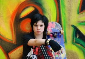 Skater punk + graffiti - Stock by memersonphotographic