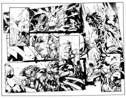 THE ULTIMATES DOUBLE PAGE SPREAD by lebeau37