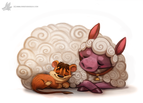 Daily Painting 900# Lambert the Sheepish Lion by Cryptid-Creations