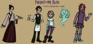 Phantom Run Character Concepts by MissTooni