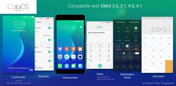 Color OS theme for EMUI by Duophased