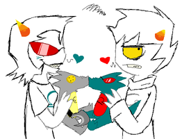 Karkat and Terezi: DR4GON L4RP by lacheetara