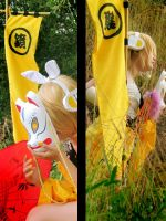 Vocaloid cosplay_Rin x Len_ by H-I-T-O-M-I