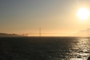 Golden Gate Sunset by JSHSfreak