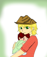 Baby picture: Two by Ask-2pChibiAmerica