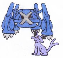 Metagross and SunCat by MistyKoopa