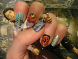 lord of the rings nail art by Nippip