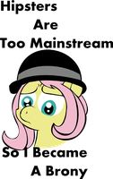 Hipster Fluttershy by lordcurly972