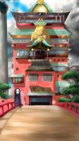 Spirited Away - The Bathhouse by Frootyness