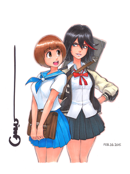 KLK Mako and Ryuko by Omar-Dogan