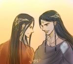Feanor and Fingolfin by MintKim