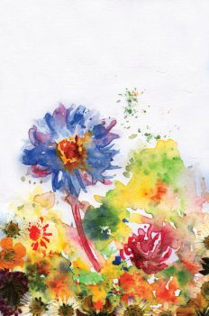 Painting Of A Daisy by xlivx