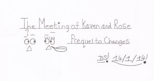 The Meeting Of Kaven and Rose Logo by RedDevilDazzy2007
